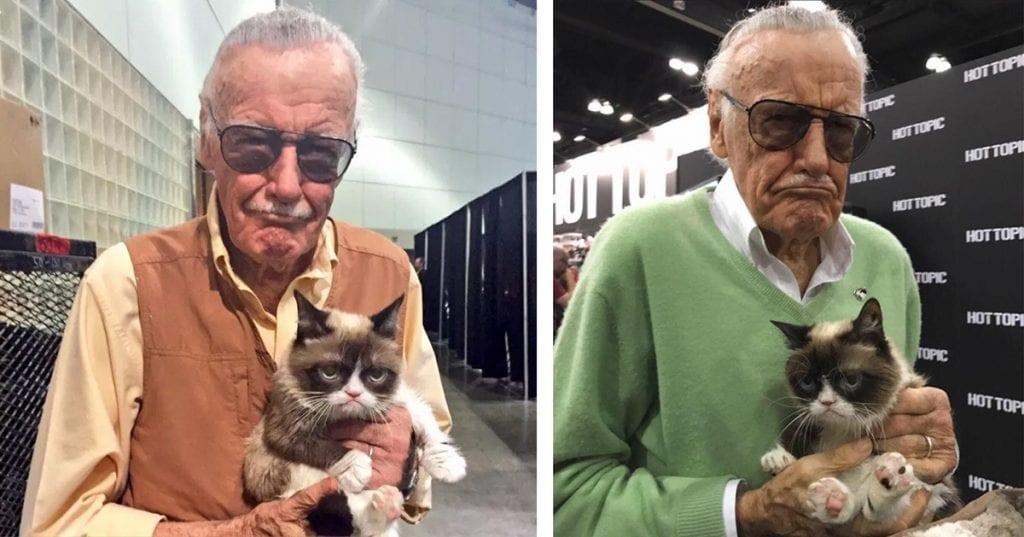 Grumpy Cat e Stan Lee